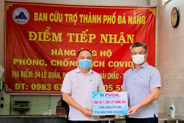 PVOIL ủng hộ 7.200 lít xăng dầu cho xe chống dịch COVID-19 tại Đà Nẵng