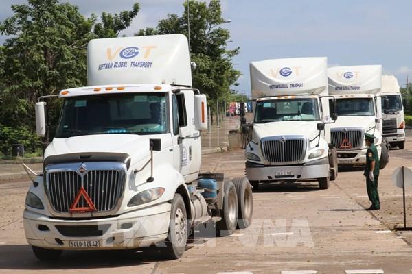 Cửa khẩu Quốc tế Hoa Lư, Bình Phước đảm bảo lưu thông hàng hóa trong dịch bệnh