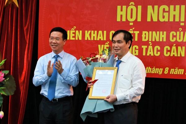 Công bố quyết định bổ nhiệm Phó Trưởng ban Tuyên giáo Trung ương