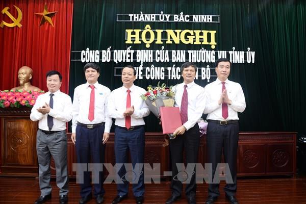 Điều động Trưởng ban Tuyên giáo Tỉnh ủy giữ chức Bí thư Thành ủy Bắc Ninh