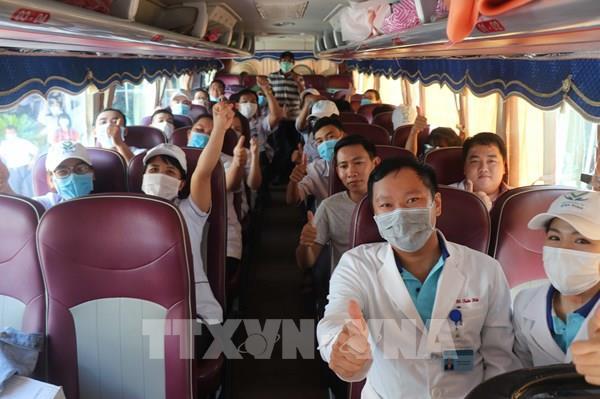 25 nhân viên y tế của Bình Định tình nguyện lên đường hỗ trợ Đà Nẵng chống dịch