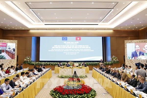 """Thủ tướng: EVFTA như """"tuyến đường cao tốc lớn"""" nối gần EU với Việt Nam"""