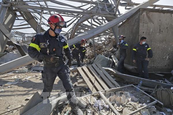 Vụ nổ ở Beirut: Đẩy nhanh công tác cứu trợ và tìm kiếm người mất tích
