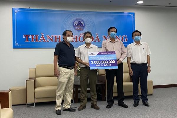 Hòa Phát ủng hộ Đà Nẵng, Quảng Nam và Quảng Ngãi phòng chống dịch COVID-19