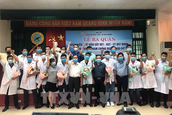 Thêm 10 y, bác sỹ Bình Định xung phong vào vùng dịch Quảng Nam