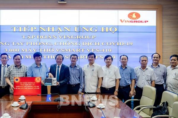 Vingroup tặng 1.700 máy thở và tài trợ hóa chất cho 56.000 xét nghiệm COVID-19