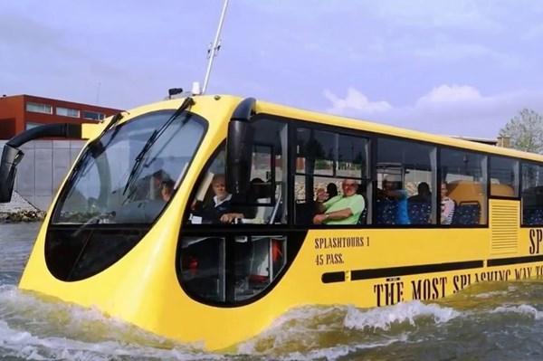 Nhật Bản sẽ chạy thử xe bus lội nước tự lái lần đầu tiên trên thế giới