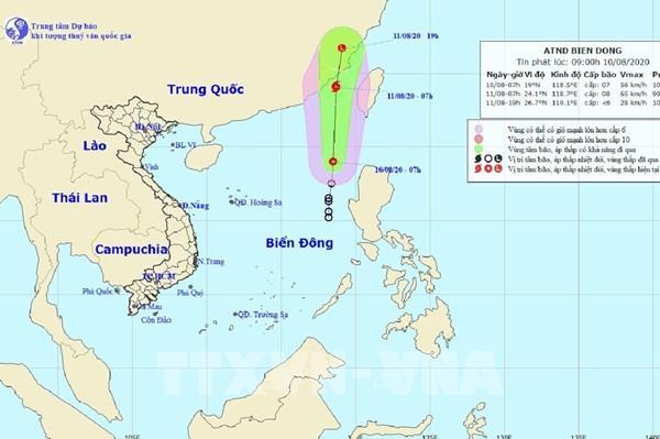 Áp thấp nhiệt đới mạnh lên thành cơn bão số 3