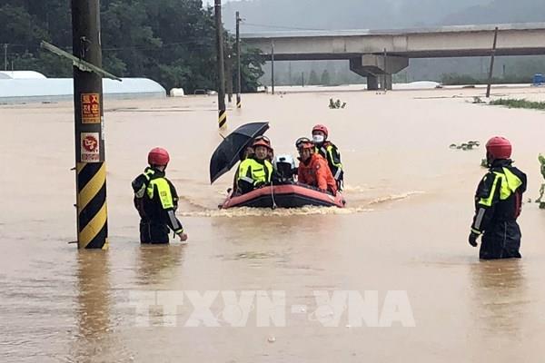 Hàn Quốc tăng gấp đôi mức hỗ trợ người dân bị thiệt hại do mưa lũ