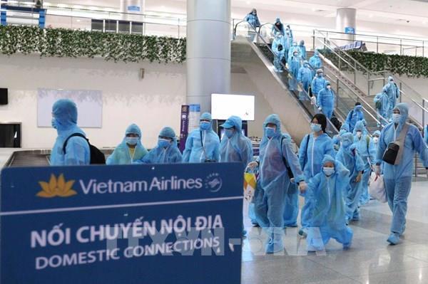 """Dịch COVID-19: Thành phố Hồ Chí Minh đón 297 du khách từ """"tâm dịch"""" Đà Nẵng trở về  """