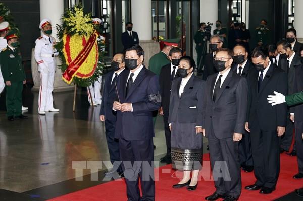 Lễ Quốc tang nguyên Tổng Bí thư Lê Khả Phiêu: Lãnh đạo các nước, tổ chức quốc tế đến viếng