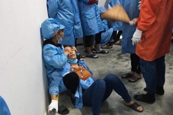 Quảng Ninh: 6 công nhân bị ngất tại phân xưởng lắp ráp điện tử