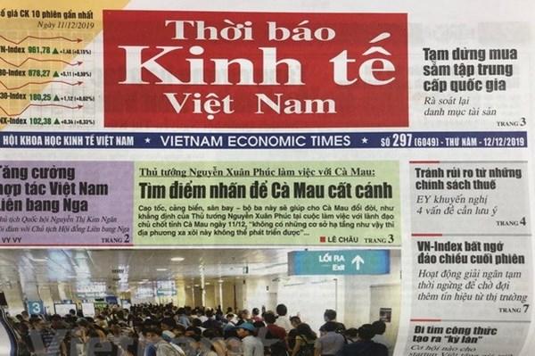 Yêu cầu chuyển đổi Thời báo Kinh tế Việt Nam thành Tạp chí Kinh tế Việt Nam