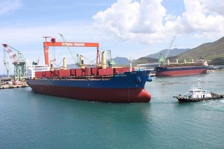 Sản phẩm của Công ty Đóng tàu Hyundai Việt Nam đã xuất khẩu tới 16 quốc gia