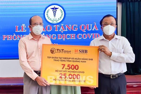 SHB và T&T Group tiếp tục ủng hộ hàng nghìn kit xét nghiệm cho Quảng Nam
