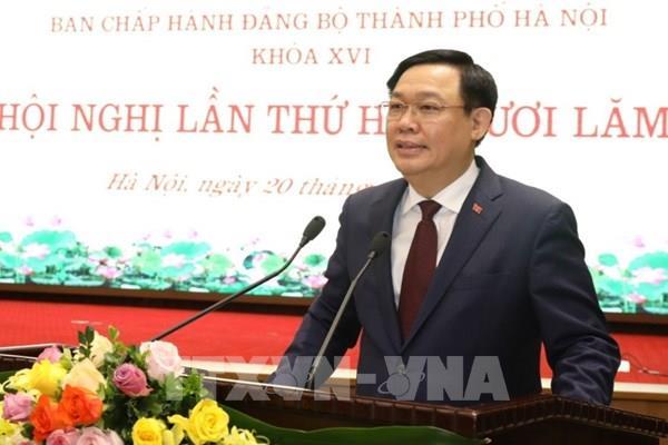Bí thư Thành ủy Vương Đình Huệ: Hà Nội tận dụng khoa học công nghệ để phát triển đột phá