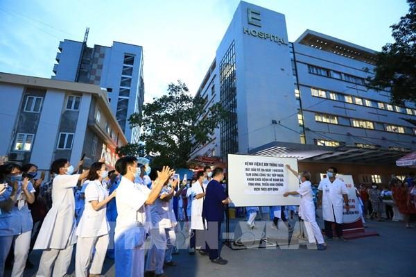 Dỡ bỏ cách ly Bệnh viện E (Hà Nội)
