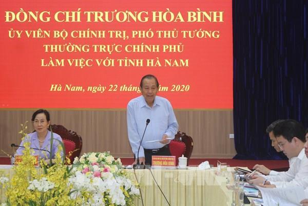 Phó Thủ tướng: Hà Nam cần đẩy nhanh tiến độ giải ngân vốn đầu tư công