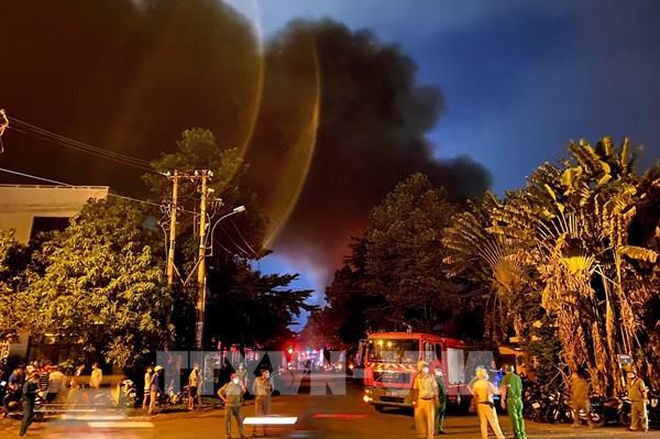 TP Hồ Chí Minh: Cháy lớn kho xưởng bên trong Khu Công nghiệp Tân Tạo