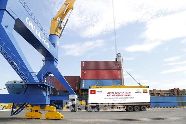 Thaco tiếp tục xuất khẩu 80 xe Kia Soluto sang Myanmar
