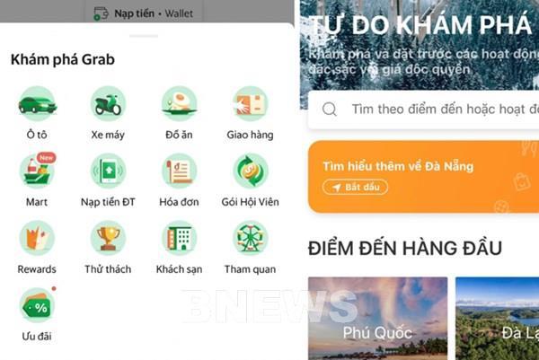 """Grab và Klook ra mắt dịch vụ du lịch qua mục """"Tham quan"""" trên ứng dụng"""