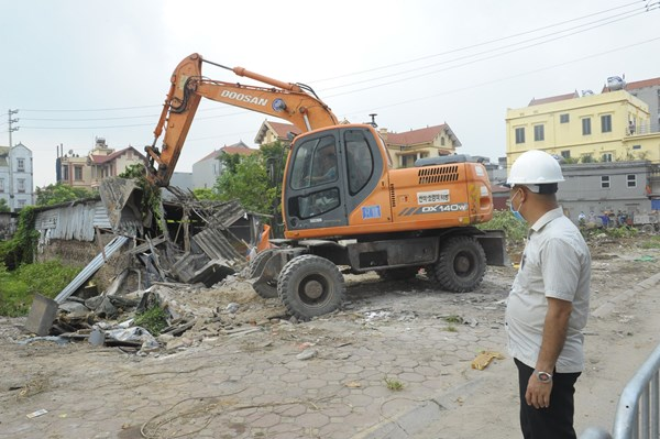 Hà Nội hoàn thành cưỡng chế thi hành Quyết định thu hồi đất của nhiều hộ gia đình