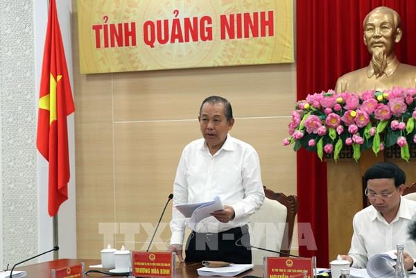 Phó Thủ tướng Trương Hòa Bình: Quảng Ninh cần tạo động lực mới để phát triển