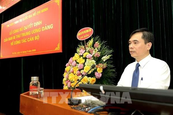 Ông Dương Trung Ý được bổ nhiệm làm Phó Giám đốc Học viện Chính trị quốc gia Hồ Chí Minh
