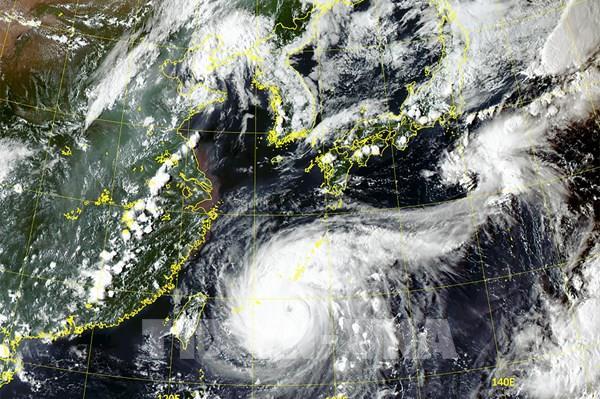 Bão Maysak gây mưa lớn trên Bán đảo Triều Tiên
