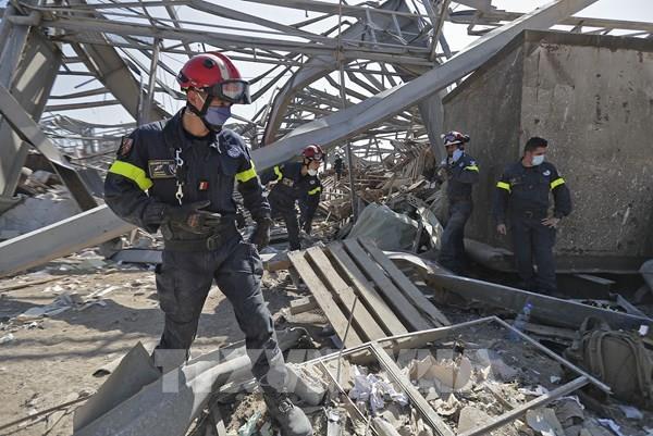 Vụ nổ ở Beirut: Phát hiện 1,3 tấn pháo hoa tại cảng Beirut
