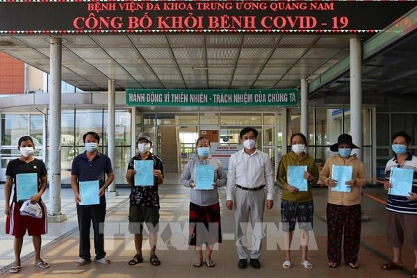 Dịch COVID-19: Thêm 13 bệnh nhân ở Quảng Nam được công bố khỏi bệnh
