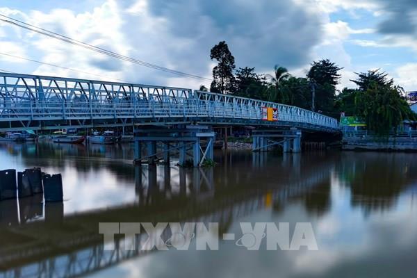 Khôi phục lại cầu Rạch Cam sau gần 3 tháng bị sạt lở