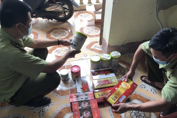 Xử phạt cơ sở kinh doanh thực phẩm chức năng có dấu hiệu nhập lậu