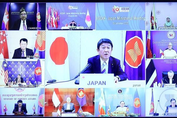 AMM 53: Nhật Bản cam kết chi 1 triệu USD hỗ trợ ASEAN chống dịch COVID-19
