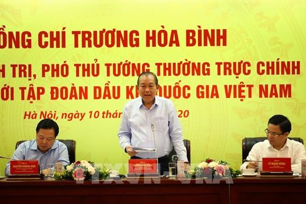 Phó Thủ tướng: Duy trì ổn định các hoạt động sản xuất, thăm dò, khai thác dầu khí