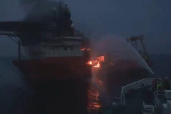 Hàn Quốc: Cháy tàu biển có 10 thuyền viên Việt Nam