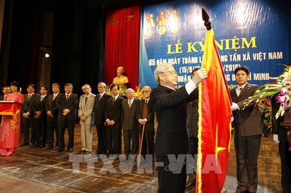 Tổng Bí thư, Chủ tịch nước Nguyễn Phú Trọng gửi thư chúc mừng TTXVN