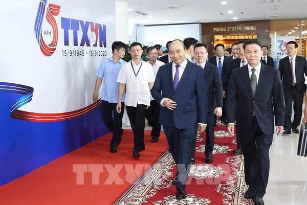 Thủ tướng Nguyễn Xuân Phúc dự Lễ kỷ niệm 75 năm Ngày thành lập Thông tấn xã Việt Nam