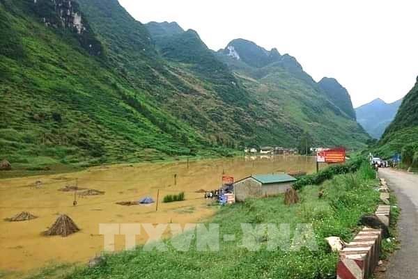 Mưa lũ gây ách tắc nhiều tuyến đường giao thông của Hà Giang