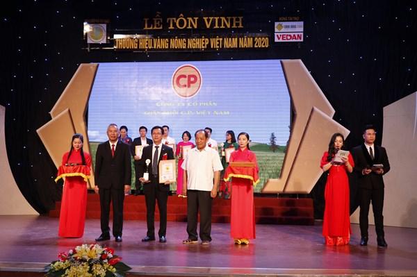 C.P. Việt Nam có 3 sản phẩm nhận thương hiệu vàng nông nghiệp Việt Nam