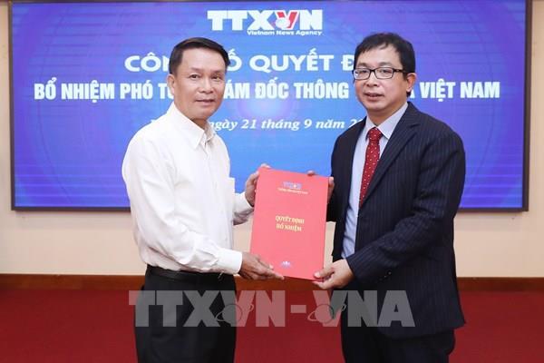 Công bố quyết định bổ nhiệm Phó Tổng Giám đốc Thông tấn xã Việt Nam
