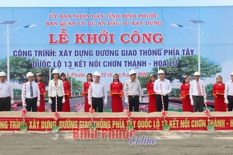 Khởi công tuyến đường kết nối Bình Dương, Bình Phước với cửa khẩu quốc tế Hoa Lư