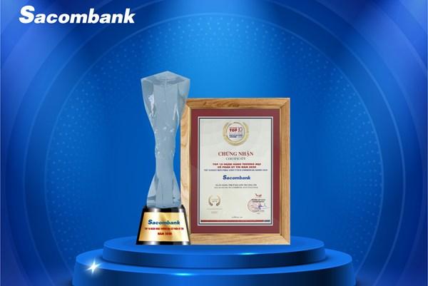 Sacombank lọt Top 10 ngân hàng TMCP tư nhân uy tín năm 2020