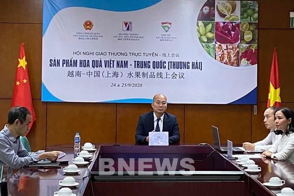 Giao thương trực tuyến sản phẩm hoa quả Việt Nam – Trung Quốc