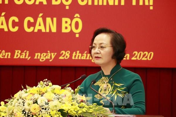 Công bố quyết định của Bộ Chính trị về công tác cán bộ với bà Phạm Thị Thanh Trà
