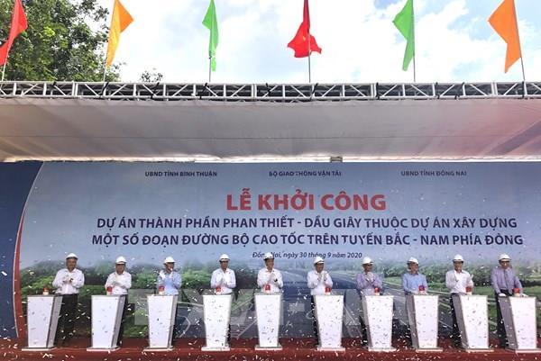 Khởi công xây dựng đoạn Phan Thiết - Dầu Giây thuộc cao tốc Bắc Nam