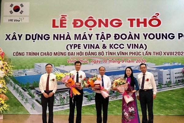 Xây dựng nhà máy Tập đoàn Young Poong tại cụm công nghiệp Đồng Sóc (Vĩnh Phúc)
