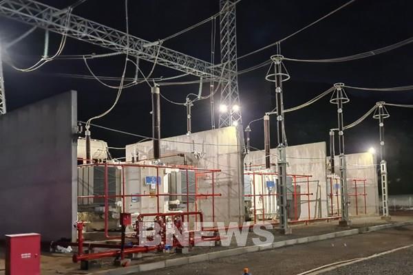 Đóng điện trạm biến áp 500 kV Nghi Sơn vượt tiến độ