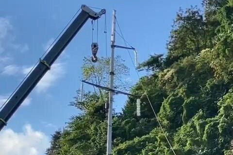 Điện lực Sơn La khắc phục xong sự cố gãy cột đường dây 110kV