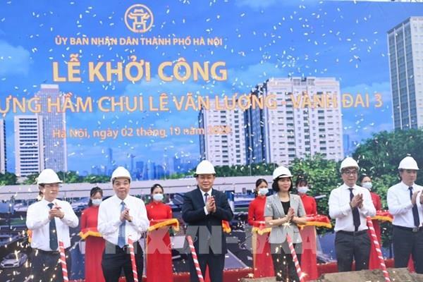 Khởi công xây dựng hầm chui Lê Văn Lương - Vành đai 3
